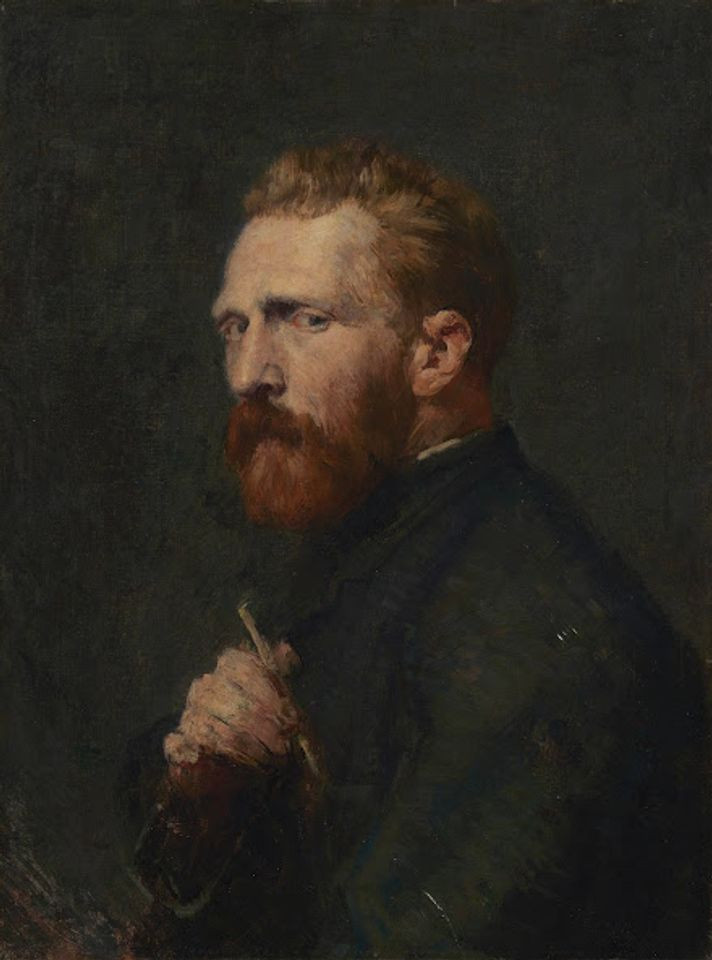 John Peter Russell's Portrait of Van Gogh (1886) Van Gogh Museum, Amsterdam (Vincent van Gogh Foundation)