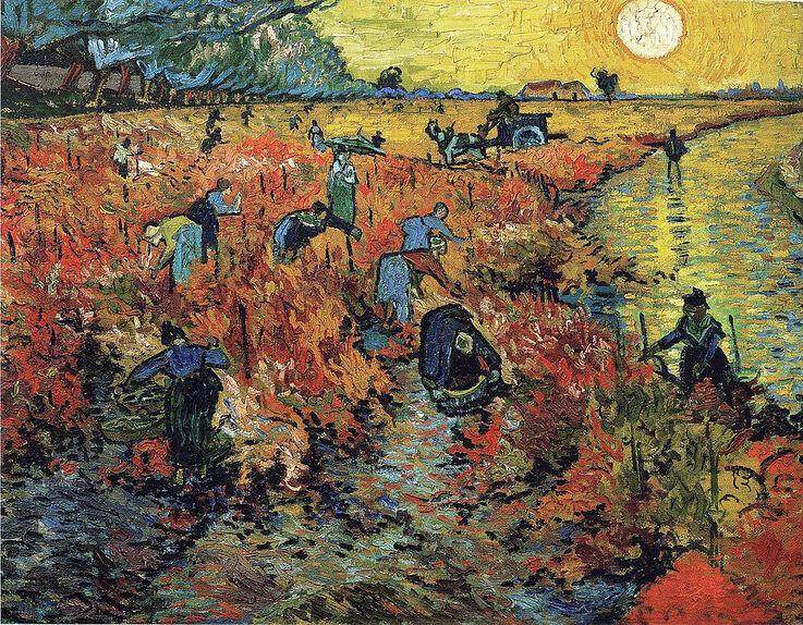 The Red Vineyard, Vincent van Gogh, 1890