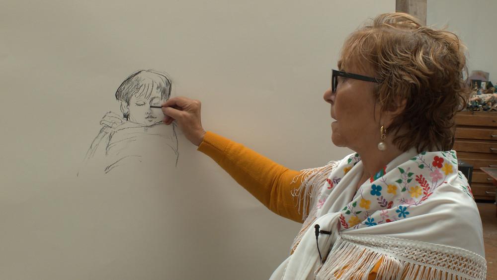 פולה רגו מציירת