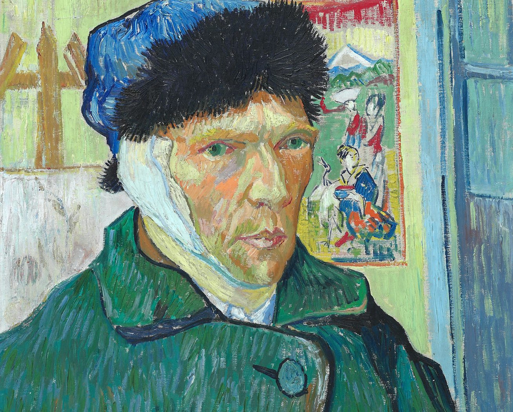 Self Portrait With Severed Ear, Vincent van Gogh, 1889