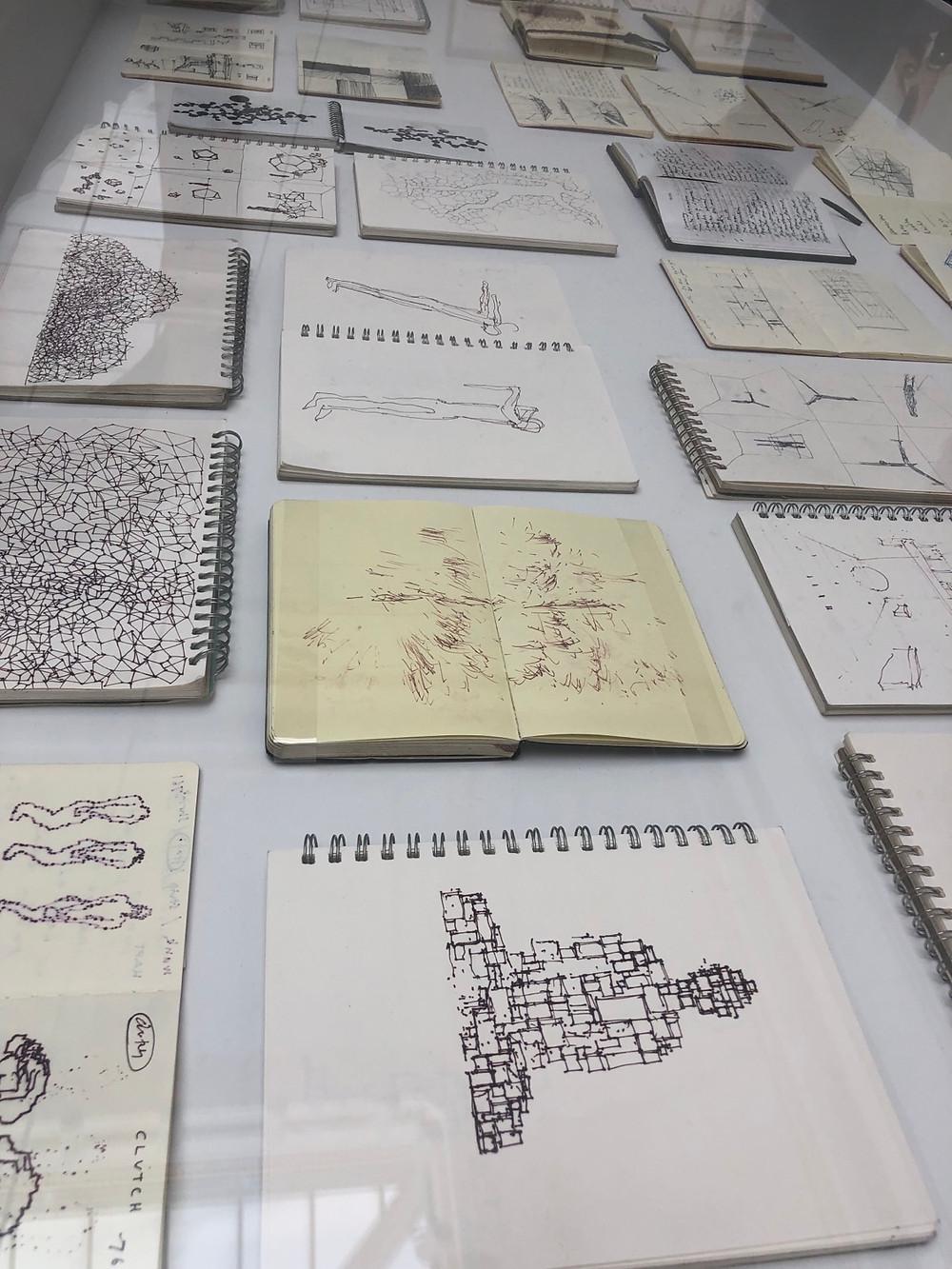 Antony Gormley's notebooks