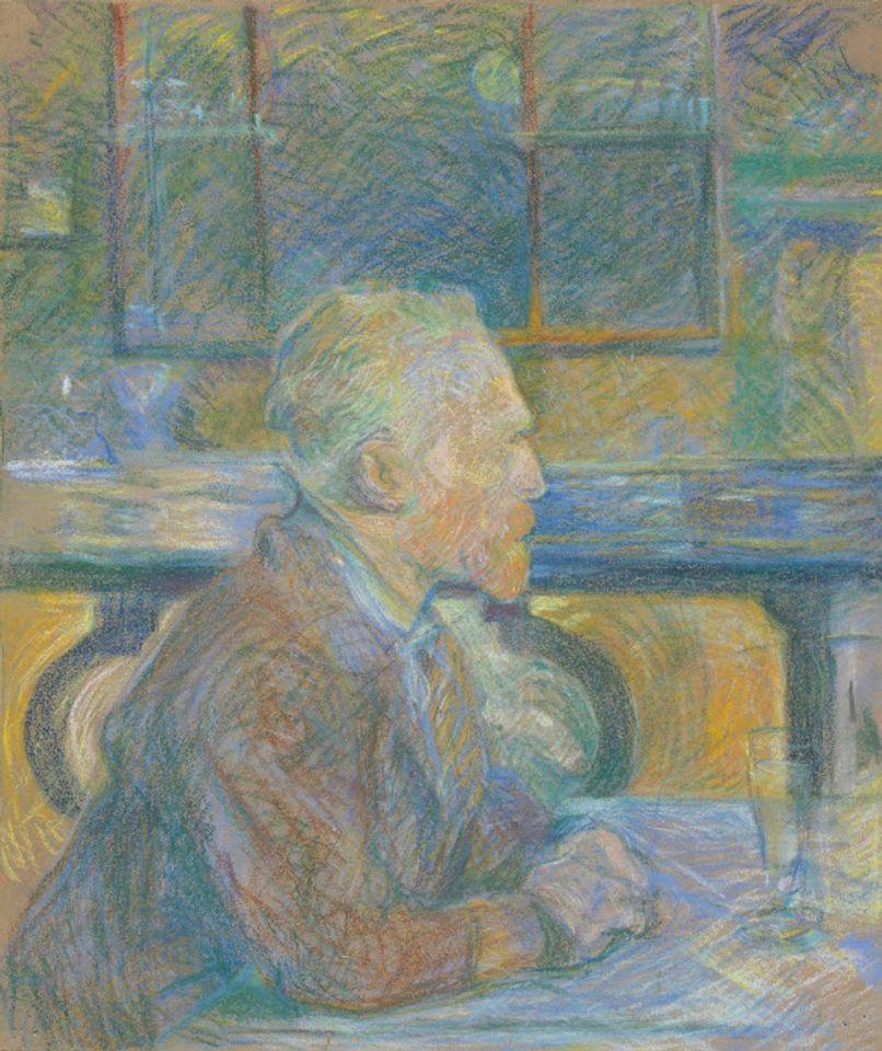 Henri de Toulouse-Lautrec's Portrait of Van Gogh (1887) Van Gogh Museum, Amsterdam (Vincent van Gogh Foundation)