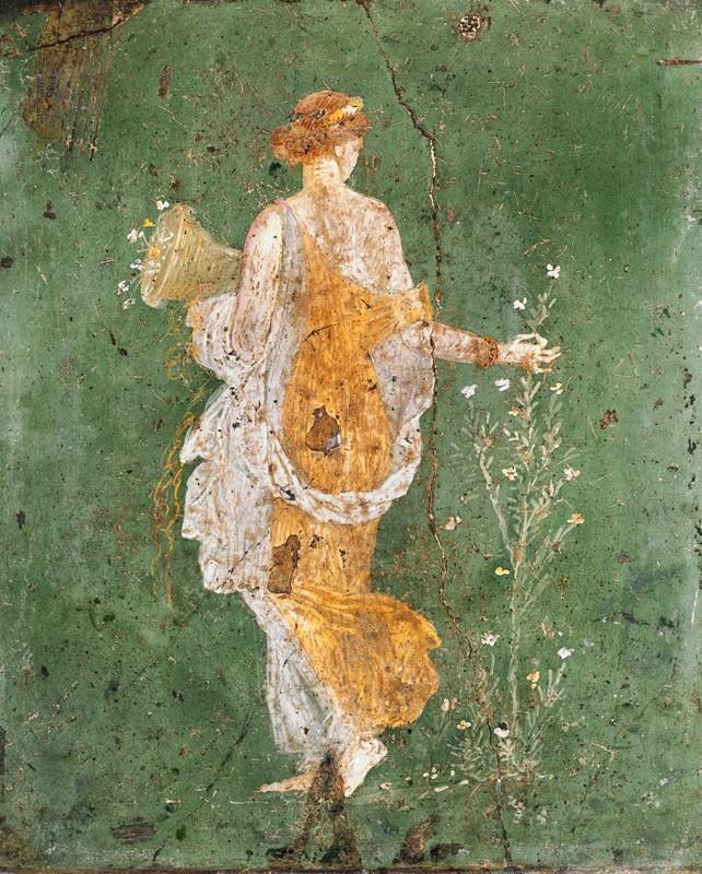 Flora, allegory of Spring, fresco, Naples