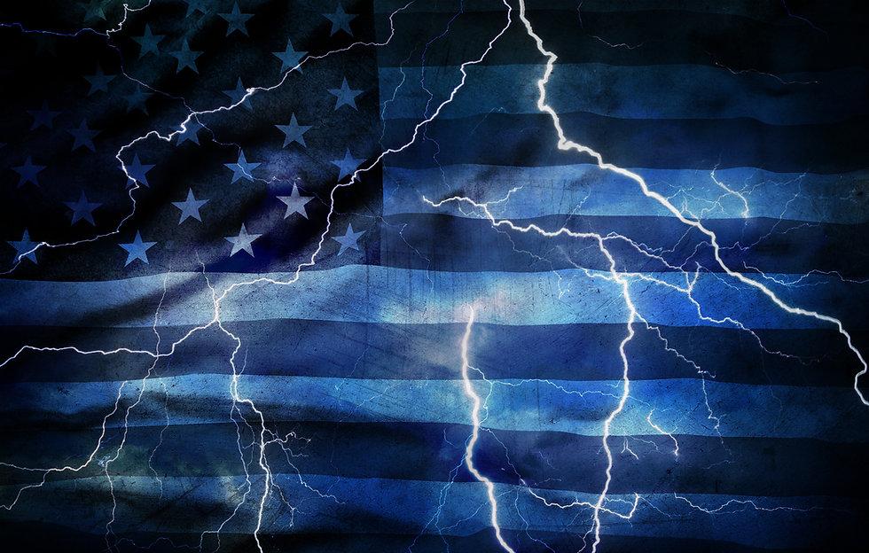 lightning american flag