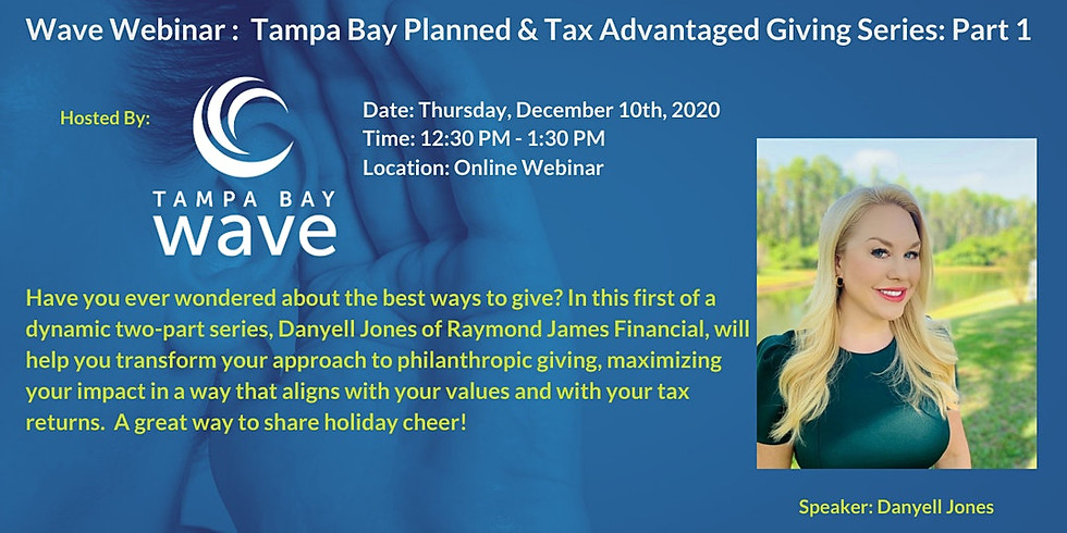 Planned & Tax Advantaged Giving Series: 1