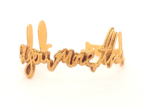 """I Love You More Than"" Bracelet"