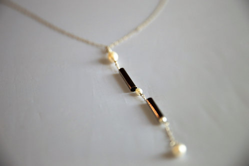 """Pearl & Tube"" Necklace"