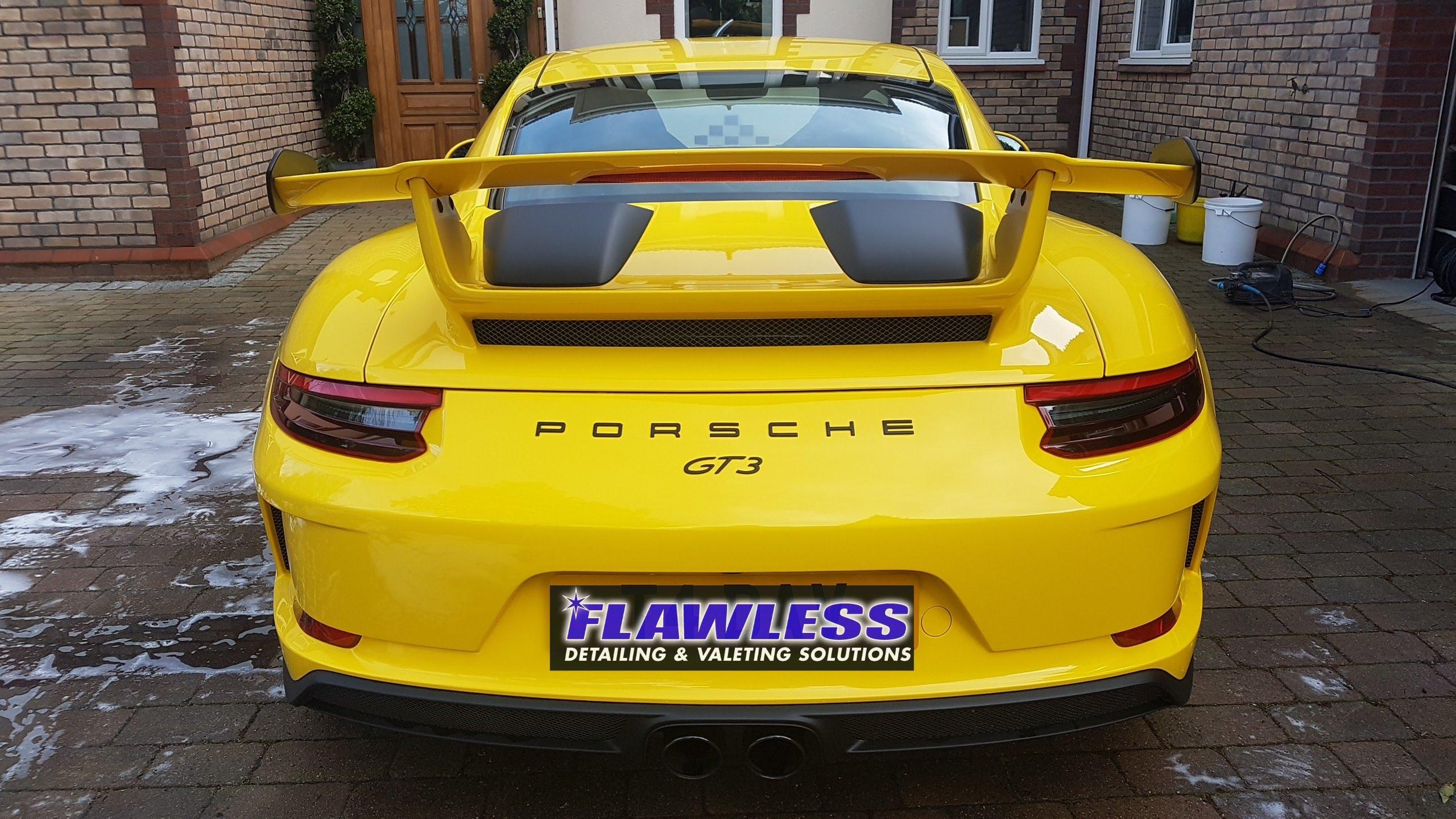 #porsche #gt3 #racingyellow #ceramiccoating #newcar #newcarprotection