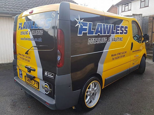 The #Flawless Detailing Solutions #work van