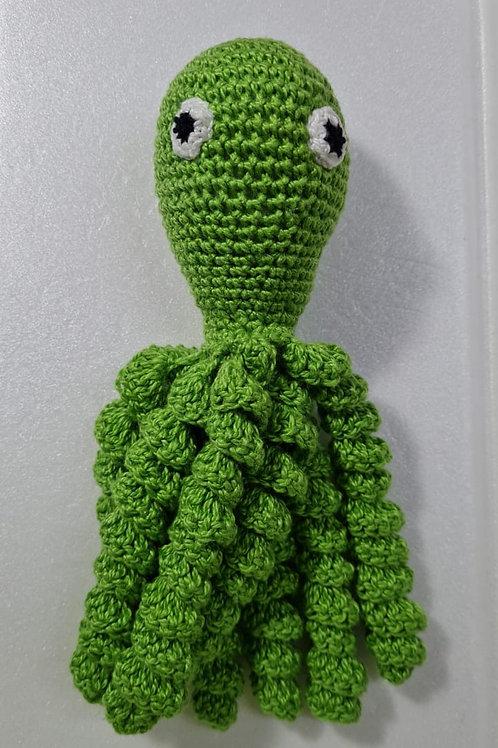 Polvo de Crochê Verde Limão - Pequeno