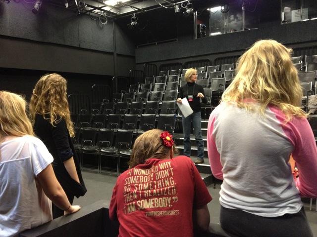 Debra directing solo cast