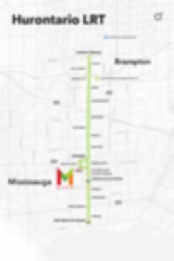 Hurontario LRT Route