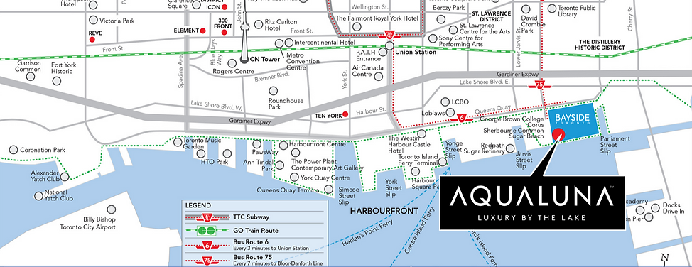 Aqunluna Condo Map