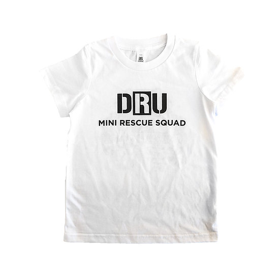 Kids Mini Rescue Squad Tee White