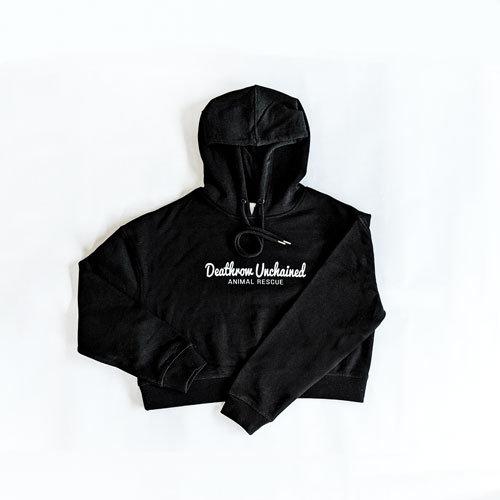 Crop Black Hoodie