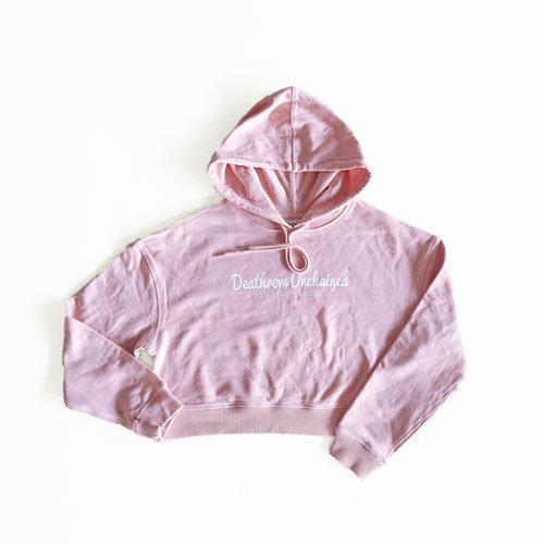 Crop Pink Hoodie