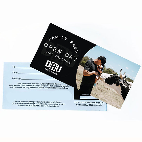 Open Day Family Pass Gift Voucher