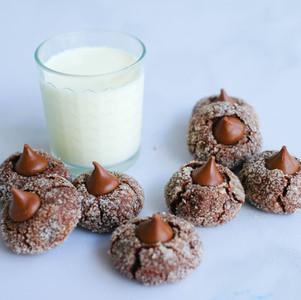 Chocolate Kisses Cookies