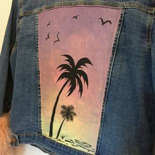 LULU Hand Painted Denim Jacket