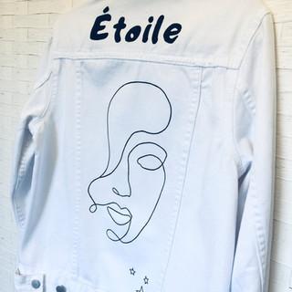 Étoile Hand Painted denim jacket