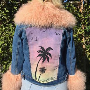 LULU Handpainted Denim Jacket