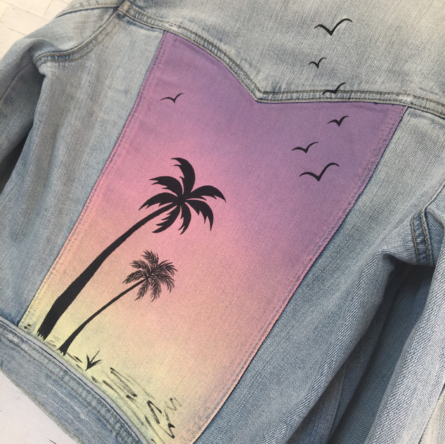 LULU hand painted denim jacket