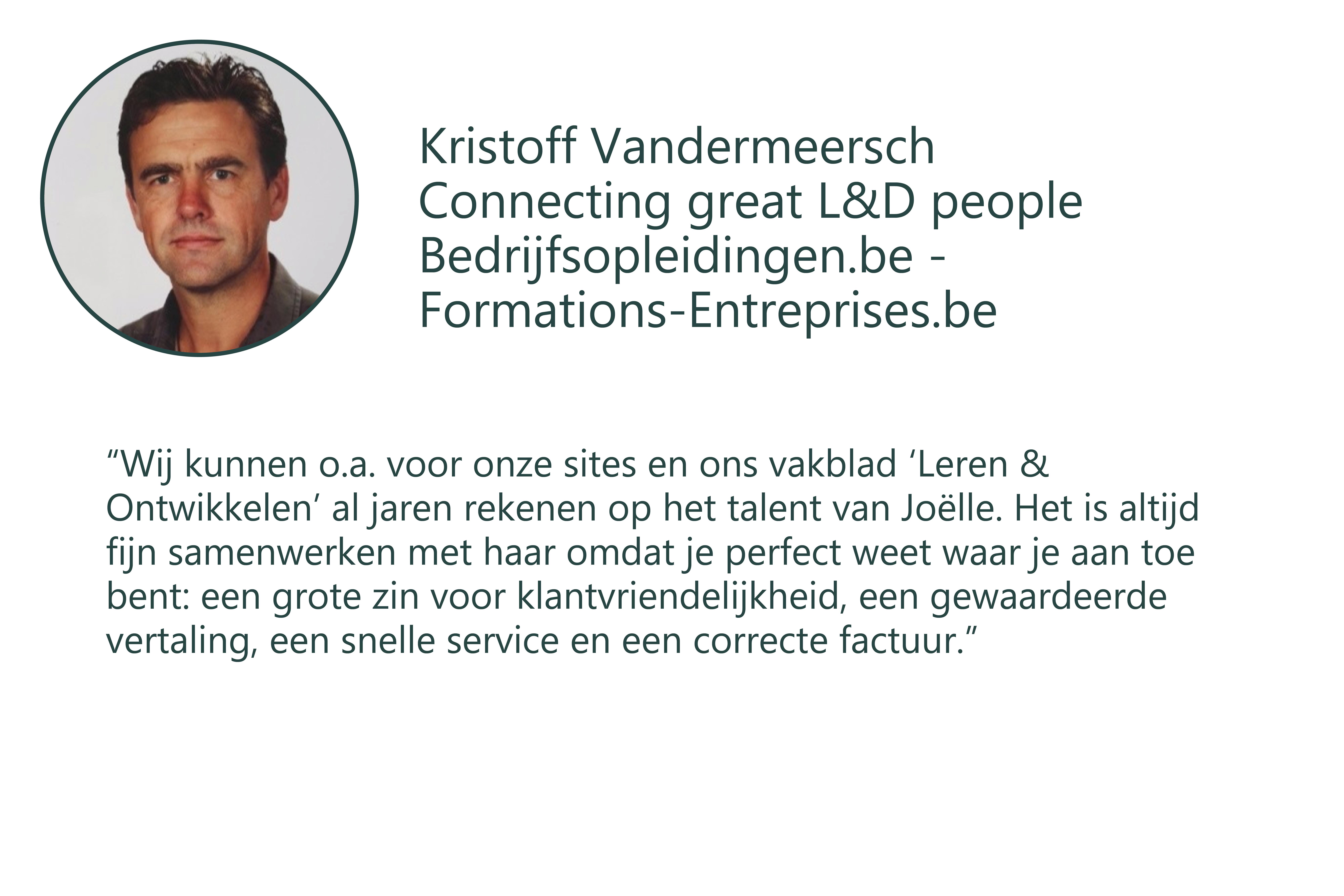 Testimonial Kristoff nl