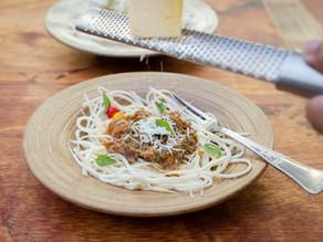 Espaguete de Guariroba com Molho de Ossobuco