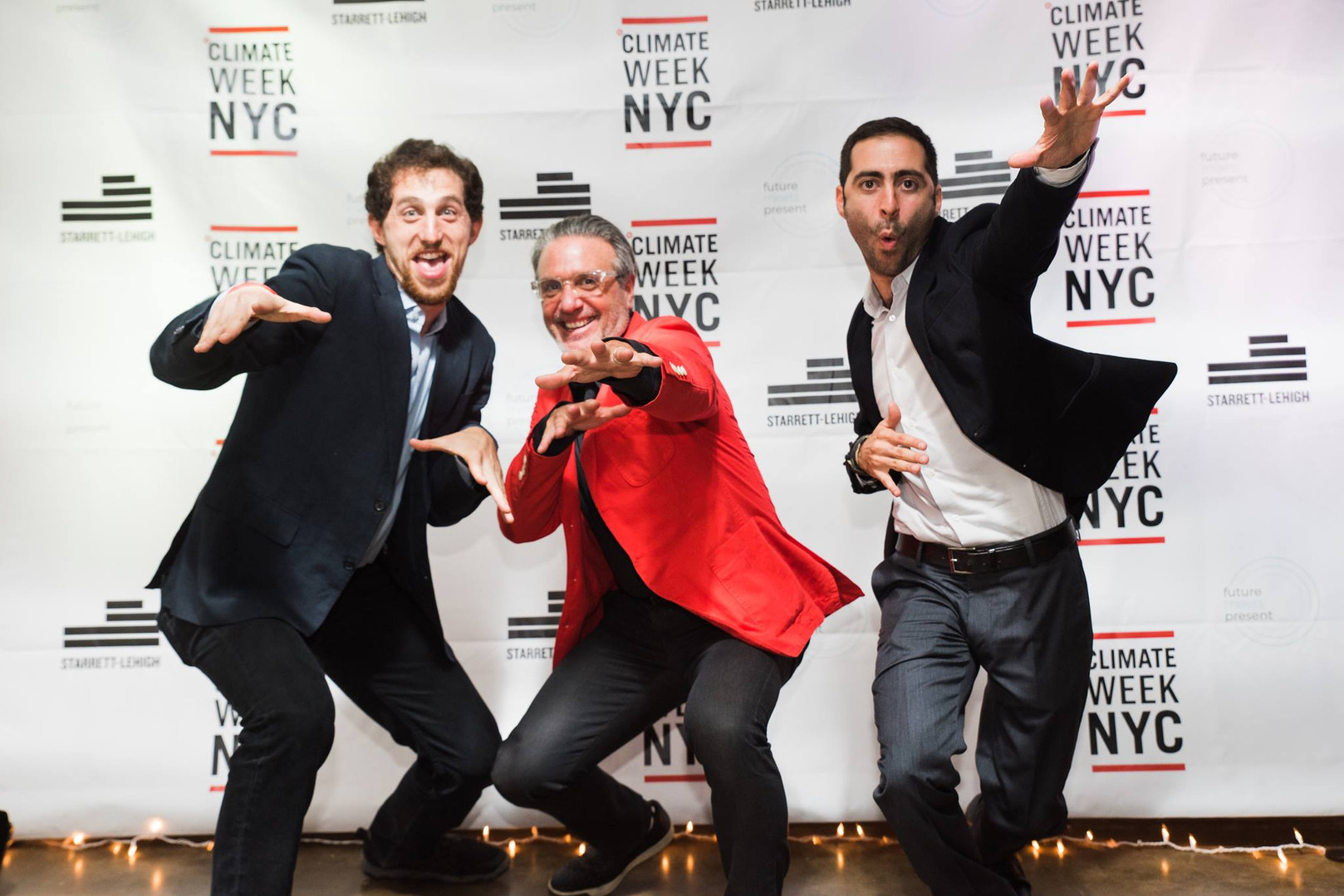 Producers Neal Ludevig, Mitchell Grant and Amer Jandali at the Marketplace of the Future