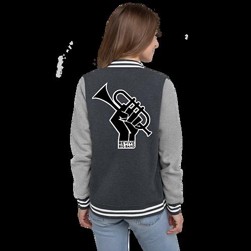 RBB Women's Letterman Jacket Blk