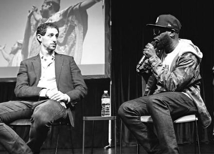 Neal Ludevig and Talib Kweli at Harlem Stage