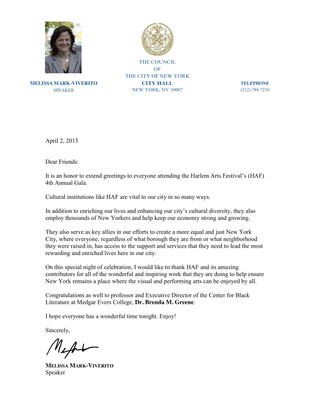 Melissa Mark-Viverito Support Letter.jpg