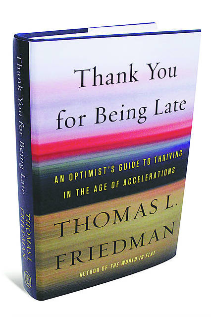 The book cover to thank you for being late
