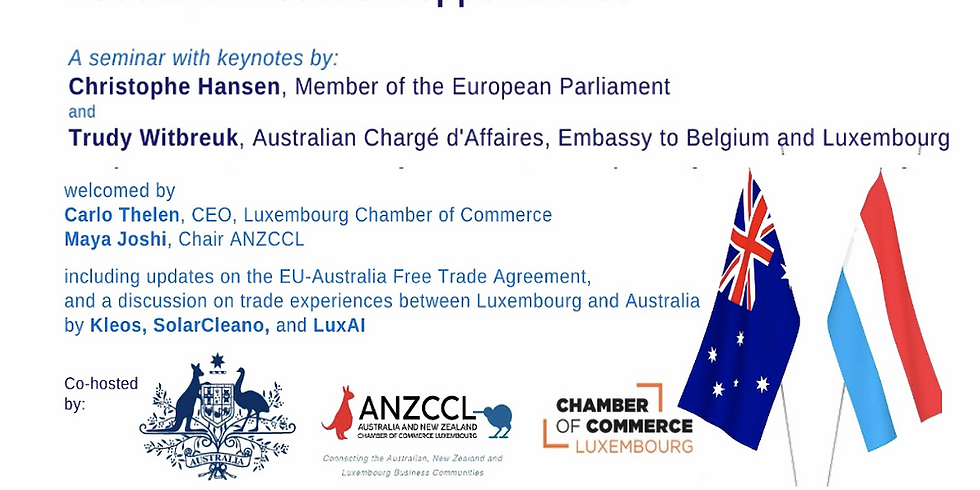 Australia - Luxembourg: Trade and Investment Opportunities