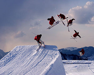 English: Freestyle skiing jump