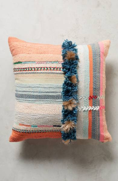Multi-colored cushion from Nordstrom with pink hues