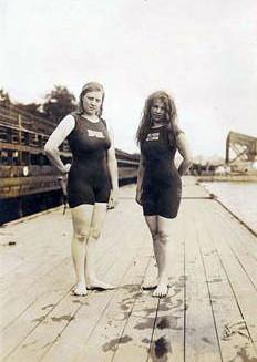 Fanny Durrack (left) and Mina Wylie, Australia...