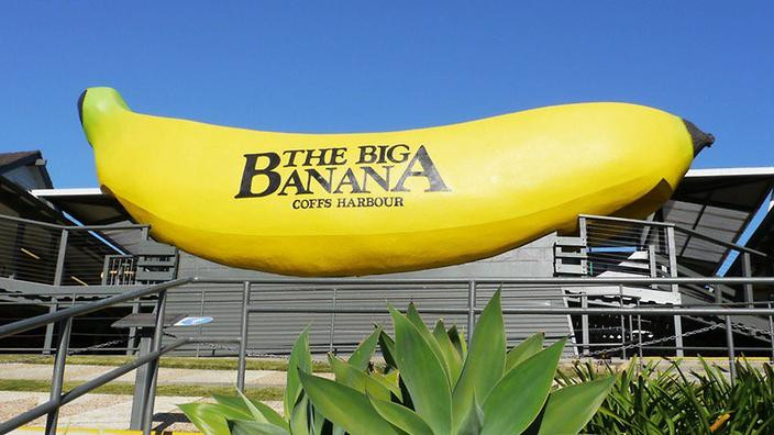 Photo of The Big Banana at Coffs Harbour in Australia.