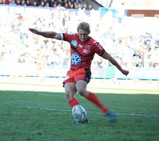 Jonny Wilkinson (Toulon) penalty kick in the H...