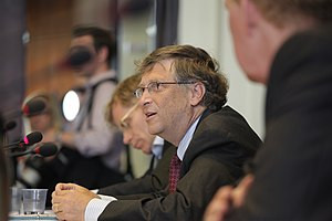 Bill Gates Addressing Health Ministers at Meet...