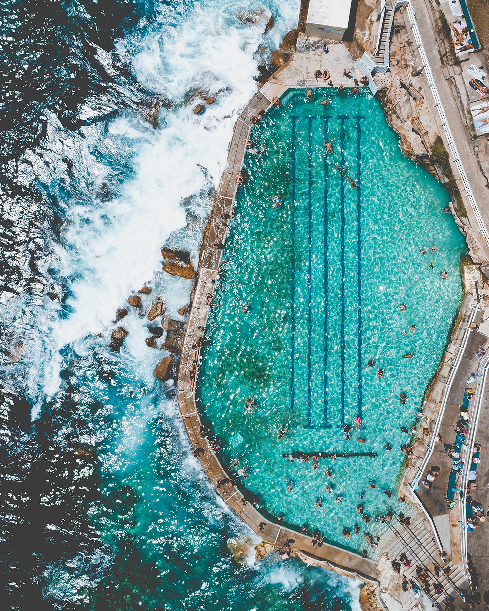 Image of Bronte rock pool.