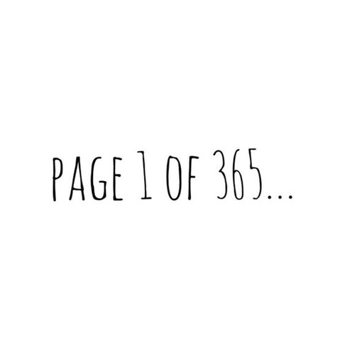 New Years Resolutions: Page 1 of 365