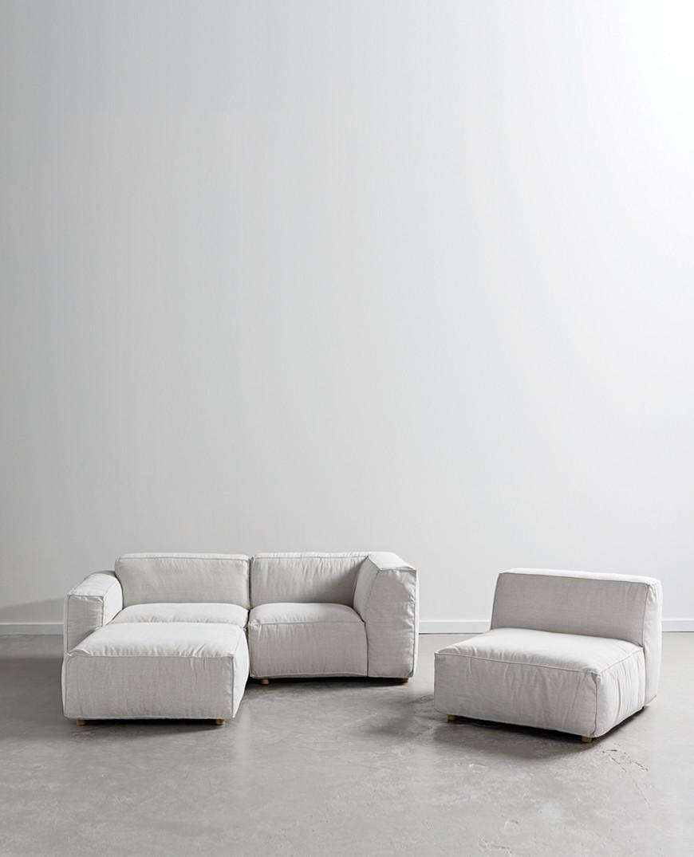 Hudson Grey Modular Sofa