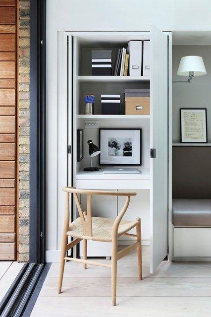 Work space in a cupboard