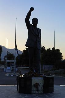 Nelson Mandela silhouette
