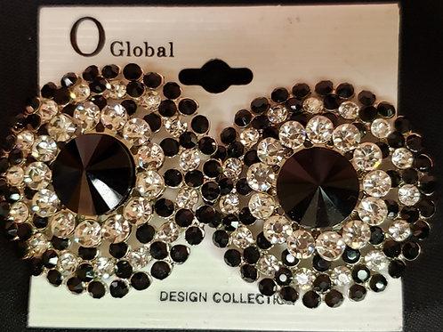 Clip rhinestone earrings
