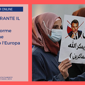 """Webinar """"IL MALE DURANTE IL MALE. Le 'nuove' forme del Jihad che terrorizzano l'Europa""""-10 novembre"""