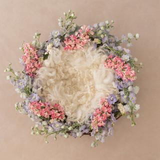 flower ring 5 ivory