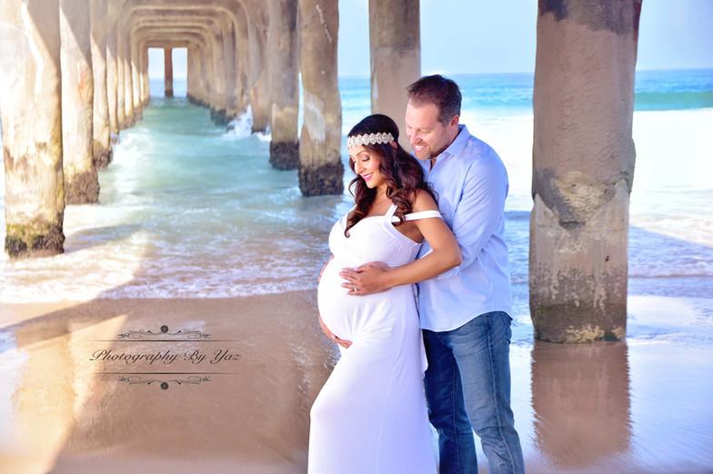 Los Angeles beach maternity photos