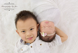 Newborn session with brother